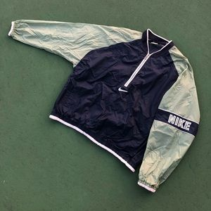 Vintage White Tag Nike Half Zip Nylon Pullover